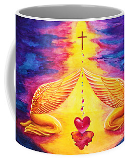 Coffee Mug featuring the painting Mercy by Nancy Cupp