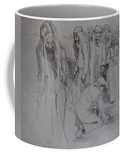 Mercy Sketch Coffee Mug by Jani Freimann