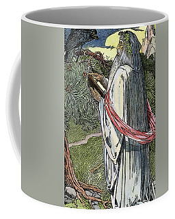 Coffee Mug featuring the drawing Merlin The Magician, 1923 by Granger