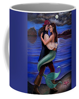 Mermaid And Pirate's Caribbean Love Coffee Mug