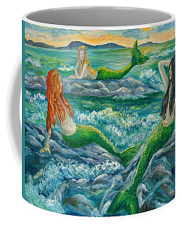 Mermaids On The Rocks Coffee Mug