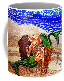 Coffee Mug featuring the painting Mermaids Spent Jackie Carpenter by Jackie Carpenter