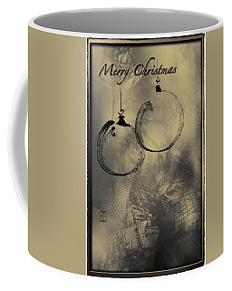 Coffee Mug featuring the mixed media Merry Christmas Card by Peter v Quenter