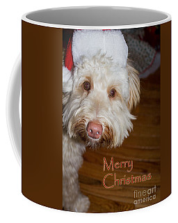 Merry Christmas From A Labrdoodle Card Coffee Mug