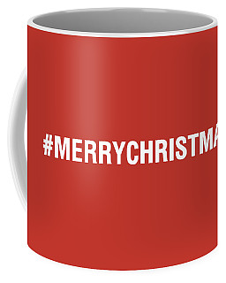 Merry Christmas Hashtag Coffee Mug