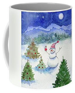 Coffee Mug featuring the painting Merry Christmas by Katherine Miller