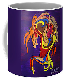 Coffee Mug featuring the painting Merry Go Round Carousel Horse by Janice Rae Pariza