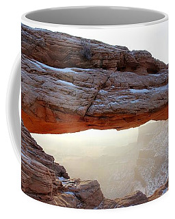 Coffee Mug featuring the photograph Mesa Arch Looking North by David Andersen