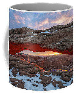 Coffee Mug featuring the photograph Mesa Arch Sunrise by Dustin  LeFevre