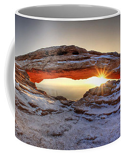 Coffee Mug featuring the photograph Mesa Sunburst by David Andersen