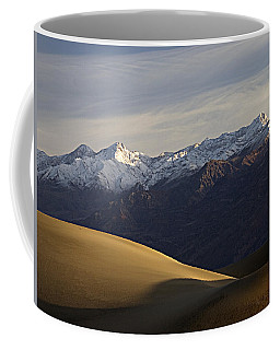 Coffee Mug featuring the photograph Mesquite Dunes And Grapevine Range by Joe Schofield