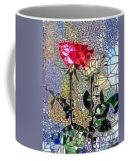 Coffee Mug featuring the painting Metalic Rose by Catherine Lott
