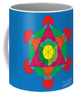 Metatron's Cube In Colors Coffee Mug