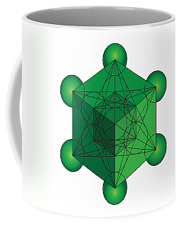 Metatron's Cube In Green Coffee Mug