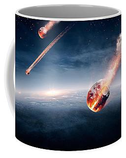 Meteorites On Their Way To Earth Coffee Mug