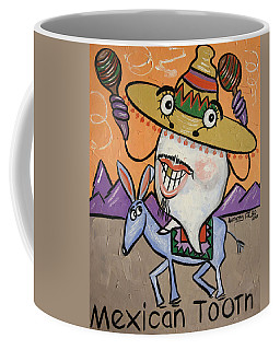 Coffee Mug featuring the painting Mexican Tooth by Anthony Falbo