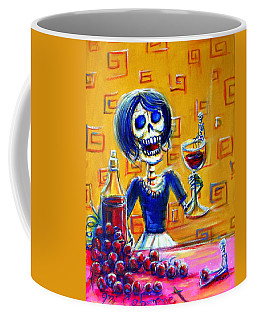 Coffee Mug featuring the painting Mi Cabernet by Heather Calderon