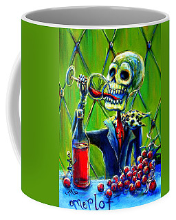 Coffee Mug featuring the painting Mi Merlot by Heather Calderon