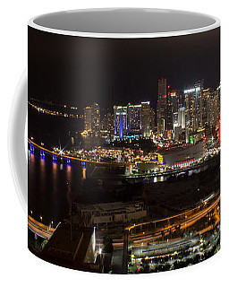 Miami After Dark II Skyline  Coffee Mug