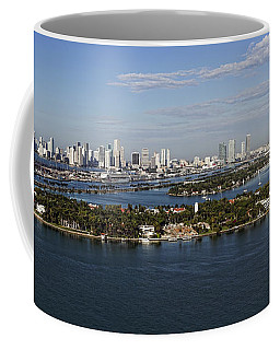 Miami And Star Island Skyline Coffee Mug