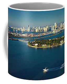 Miami City Biscayne Bay Skyline Coffee Mug