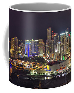 Miami Downtown Skyline American Airlines Arena Coffee Mug