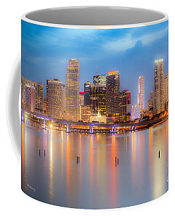 Miami Skyline On A Still Night- Soft Focus  Coffee Mug