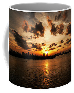 Miami Skyline Sunset Coffee Mug