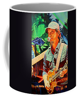 Coffee Mug featuring the painting Michael Kang At Horning's Hideout by Joshua Morton