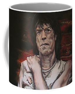 Coffee Mug featuring the painting Mick Jagger - Street Fighting Man by Eric Dee