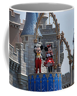 Mickey And Minnie In Living Color Coffee Mug