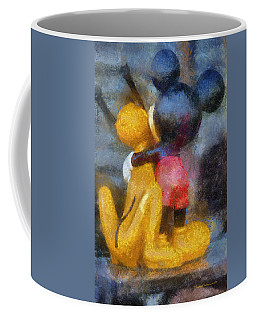 Mickey Mouse Photo Art Coffee Mug by Thomas Woolworth