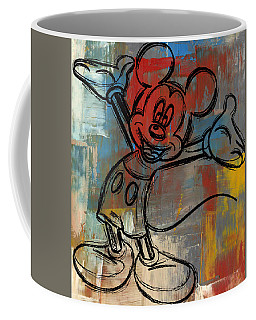 Mickey Mouse Sketchy Hello Coffee Mug by Paulette B Wright