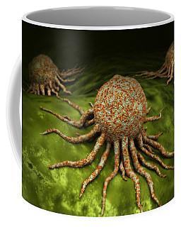 Microscopic View Of Cancer Virus Coffee Mug