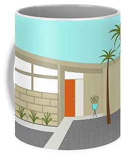Coffee Mug featuring the digital art Mid Century Modern House 1 by Donna Mibus
