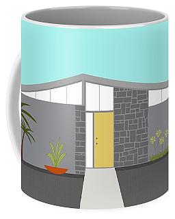Coffee Mug featuring the digital art Mid Century Modern House 2 by Donna Mibus