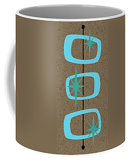 Coffee Mug featuring the digital art Mid Century Modern Shapes 1 by Donna Mibus