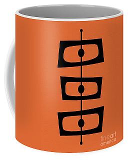 Mid Century Shapes On Orange Coffee Mug