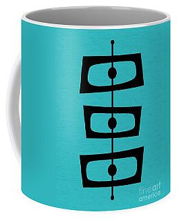 Mid Century Shapes On Turquoise Coffee Mug