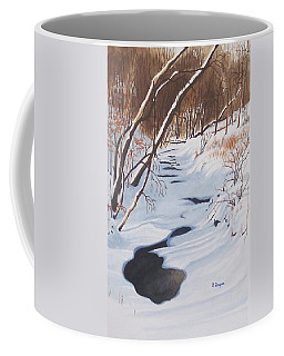 Mid Winter On The Alexauken Coffee Mug