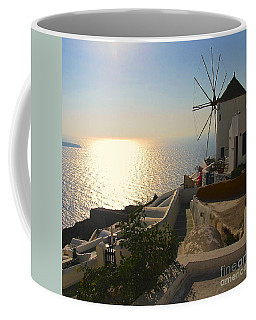 Midday On Santorini Coffee Mug by Suzanne Oesterling