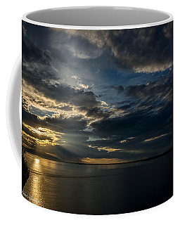Midnight Sun Over Cook Inlet Coffee Mug by Andrew Matwijec