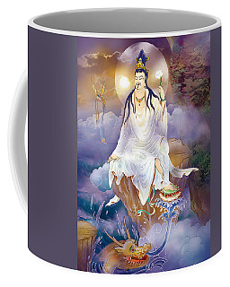 Coffee Mug featuring the photograph Mighty Merits Kuan Yin by Lanjee Chee