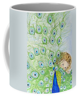 Mika And Peacock Coffee Mug