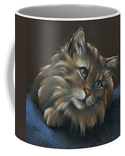 Coffee Mug featuring the drawing Miko by Cynthia House