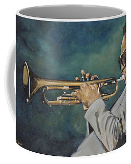 Coffee Mug featuring the painting Miles Davis - Solo by Dwayne Glapion