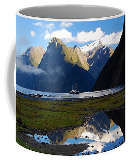 Coffee Mug featuring the photograph Milford Sound by Cascade Colors