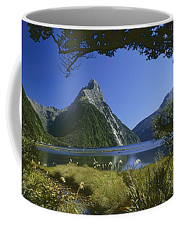 Coffee Mug featuring the photograph Milford Sound  New Zealand by Rudi Prott