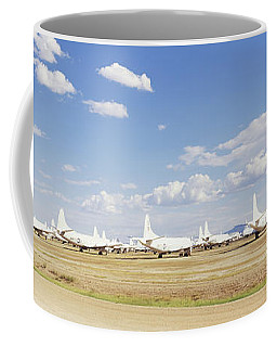 Military Airplanes At Davismonthan Air Coffee Mug