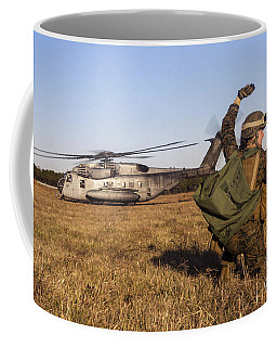 Military Policeman Signals To The Other Coffee Mug